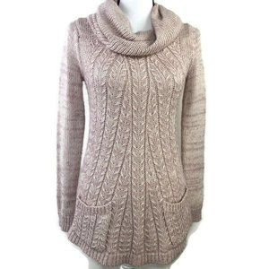 Anthropologie Guinevere Cowl Neck  Knit Sweater